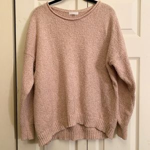 14th & Union Scoop Neck Light Pink Sweater